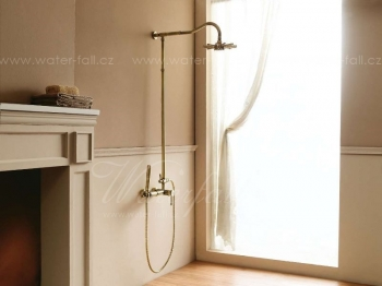 Antique Brass Bamboo Bronze Shower